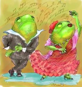 sapos dancing flamenco