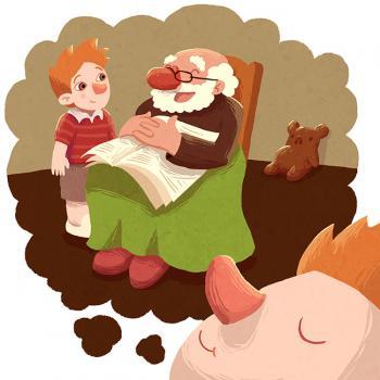 niño y abuelo