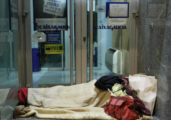 cajero indigente